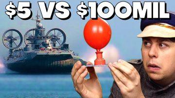 $5 Hovercraft Vs. $100,000,000 Hovercraft