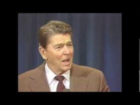 Ronald Reagan tells Melbourne joke