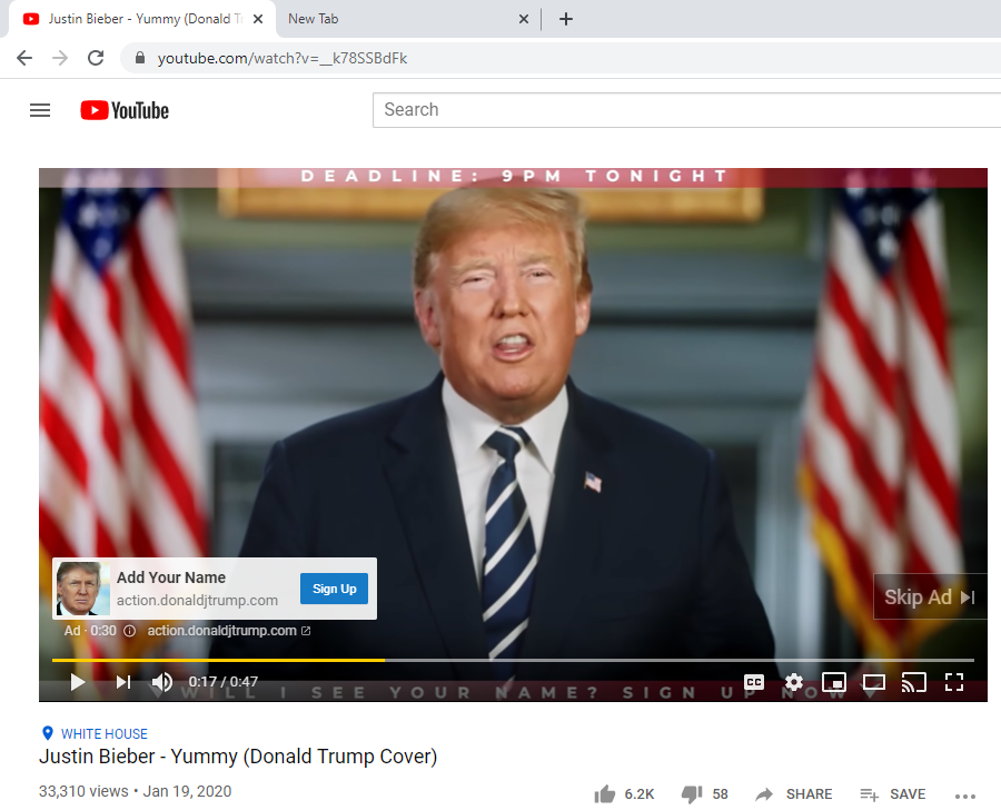 look at the title of the video then look at the ad