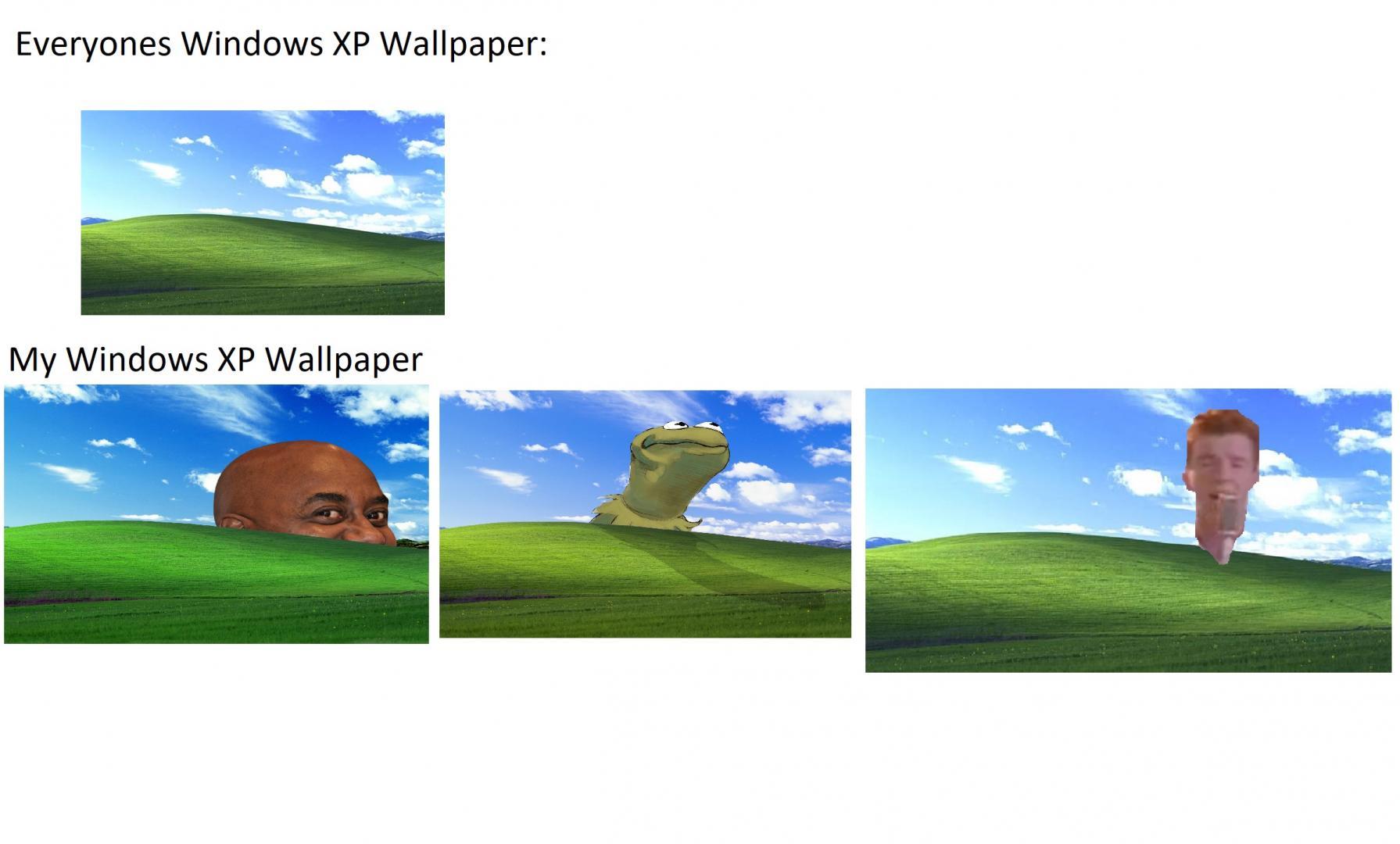 Everyons Windows XP Background VS My Window XP Background
