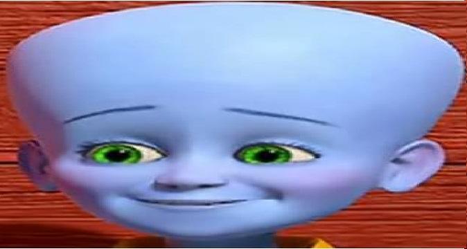 MegaMind Child Face Streched